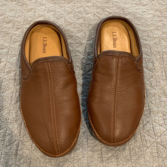 L.L Bean elkhide men's slippers